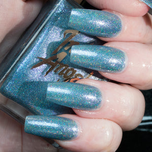 Noel - light silver blue superholo nail polish vegan