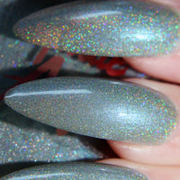 Oogie Boogie - light silver blue ultimate holo nail polish vegan