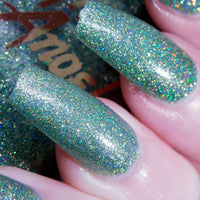 Prince Valium - light teal green glitter superholo nail polish vegan