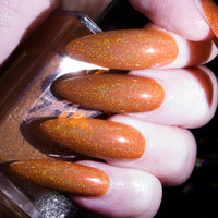 Pumpkin sNice - muted orange superholographic nail polish vegan