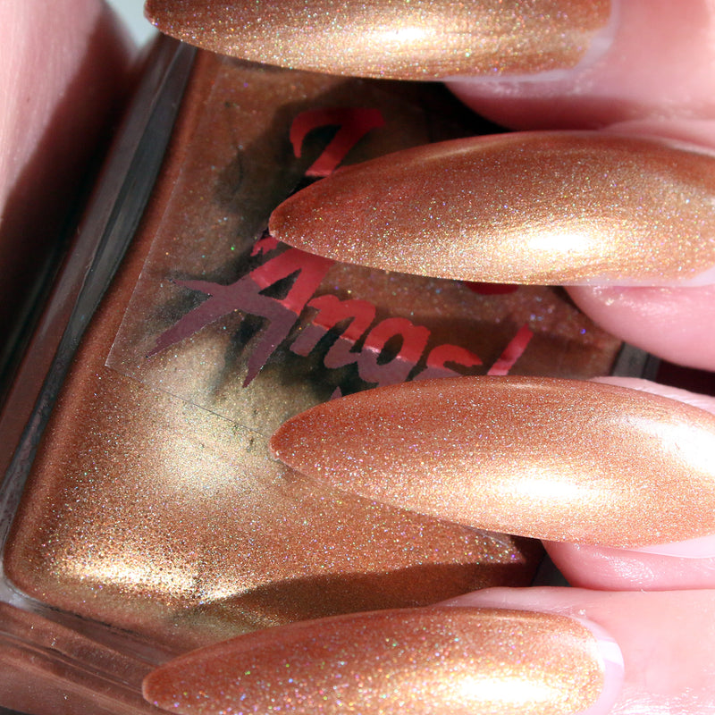 Salted Caramel - neutral bronze holographic nail polish vegan