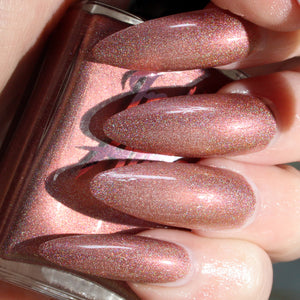 Sandy Claws - warm tan ultimate holo nail polish vegan