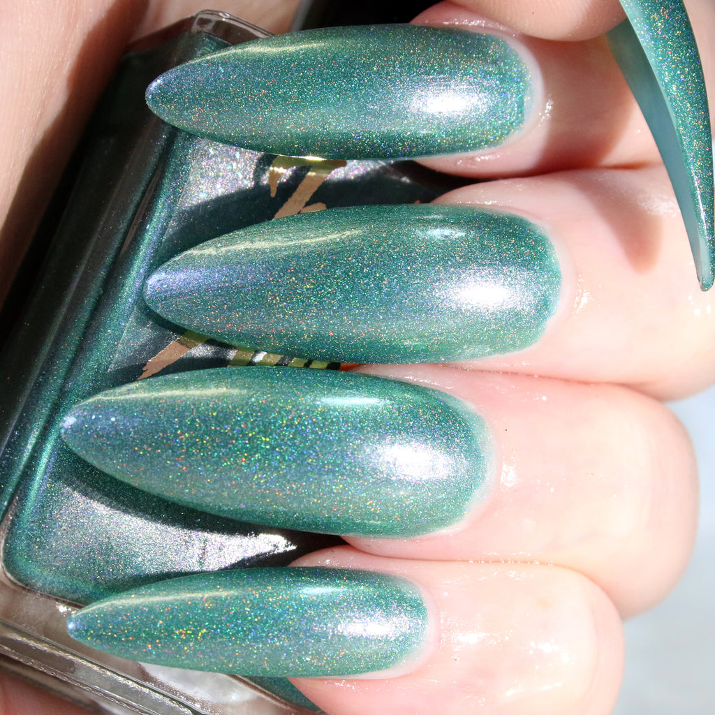Serpent - teal green blue superholographic nail polish vegan