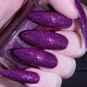 SheDevil - violet grape flakie superholo nail polish vegan