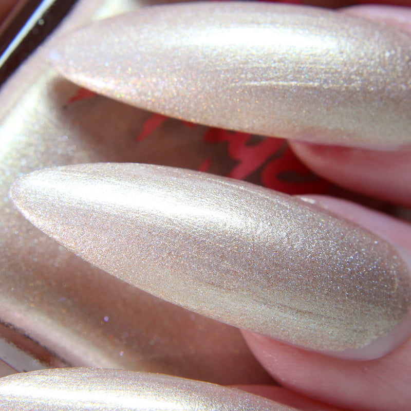 Spiced Vanilla - neutral champagne shimmer nail polish vegan