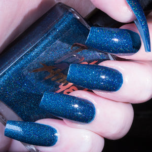 Starry Night - dark blue superholo nail polish vegan