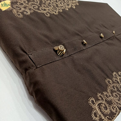 luxury Designer embroidery suit by NWAH collection