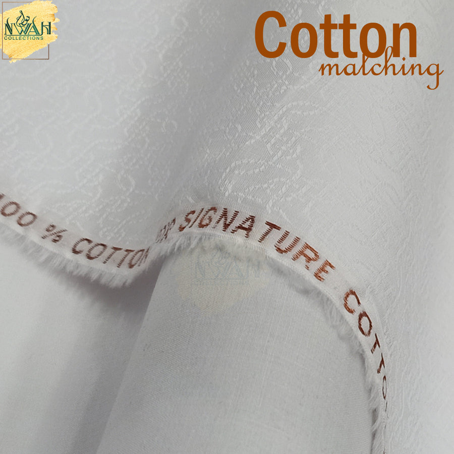 soft cotton matching by cha-wla unstitch fabric for men