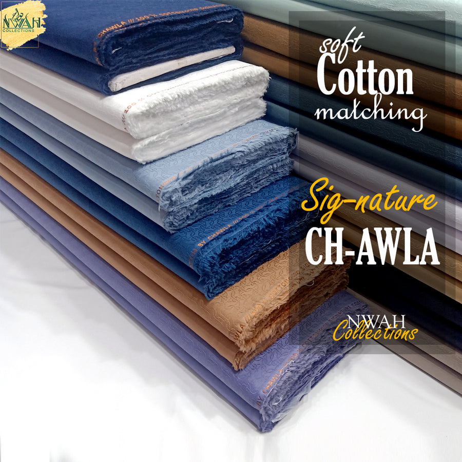 soft cotton matching by ch-awla unstitch fabric for men