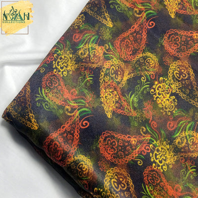 digital print for waistcoat unstitch fabric for men