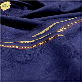 blanded jamawar unstitch imported fabric for men