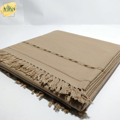 Trendy full length shawl in wool fabric