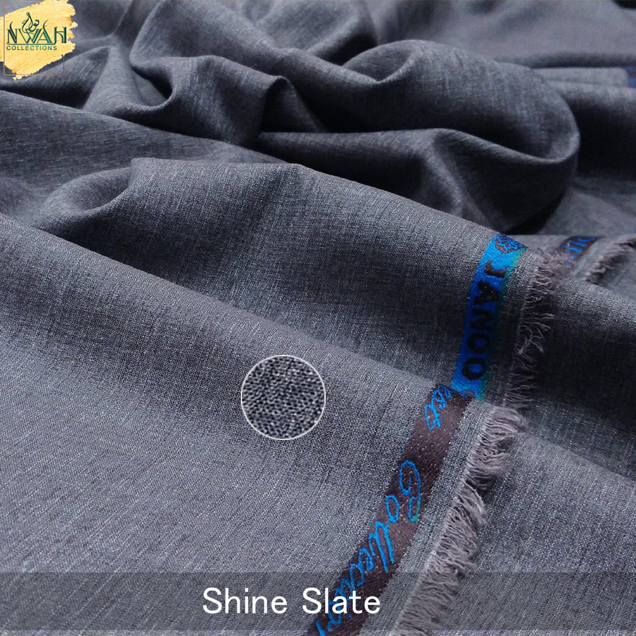 soft shiny summer wash&wear unstitch fabric for men