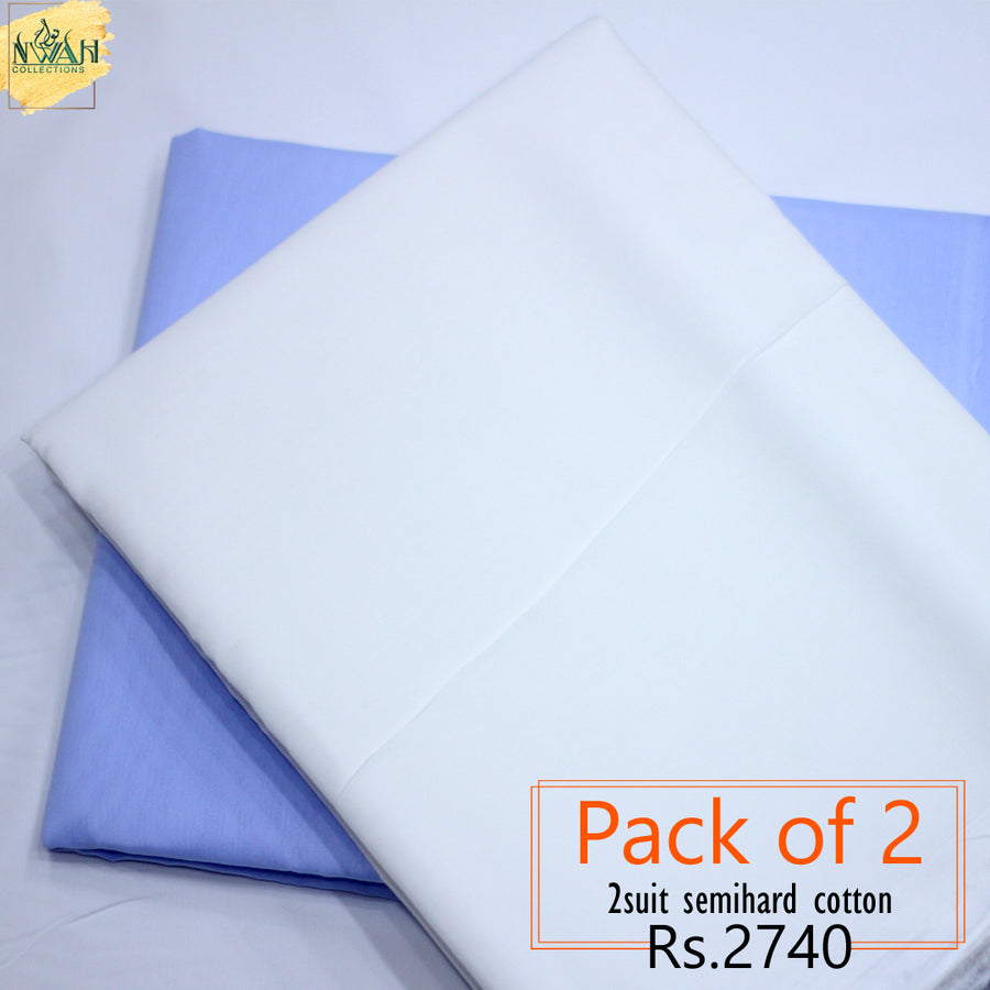 pack of 2 semi hard cotton