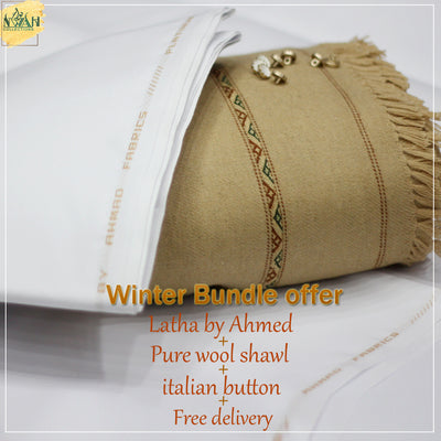 winter bundle offer Latha+shawl+button