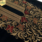designer embroidery on wash&wear unstitch fabric for men