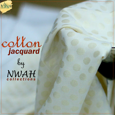 cotton jacquard kurta with plain shalwar