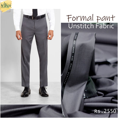 Formal pant unstitch imported fabric for men