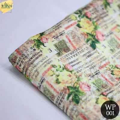 printed silk fabric for waistcoat