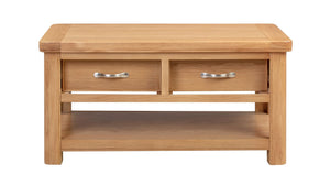 Chatsworth Oak Coffee Table with 2 Drawers
