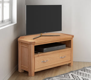 Load image into Gallery viewer, Chatsworth Oak Corner TV Unit