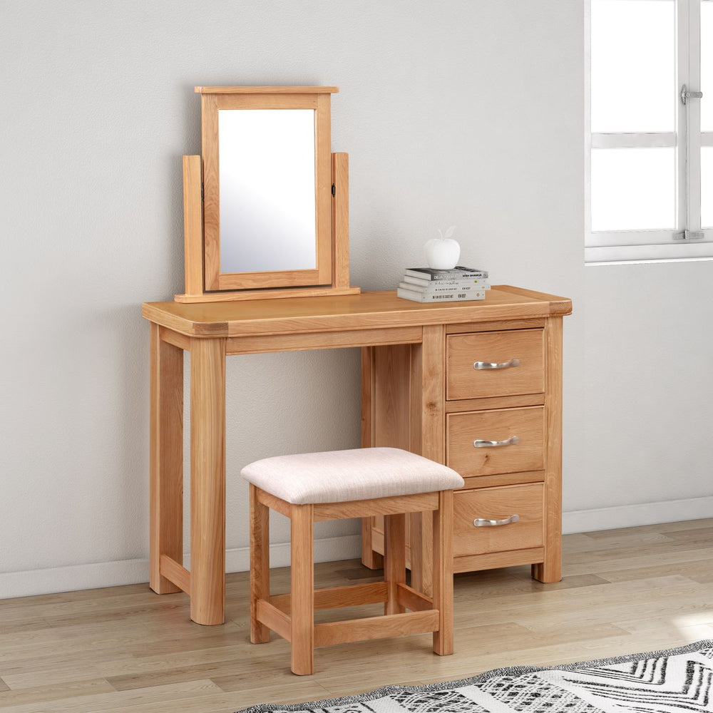 Chatsworth Oak Dressing Table Set