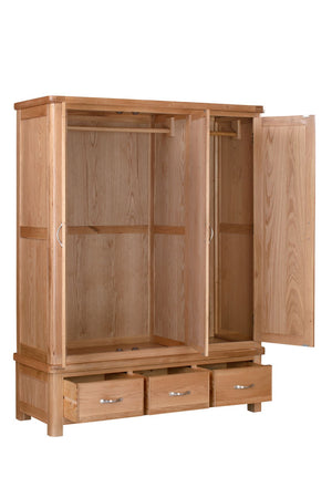 Chatsworth Oak Triple Wardrobe