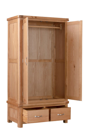 Load image into Gallery viewer, Chatsworth Oak Double Wardrobe