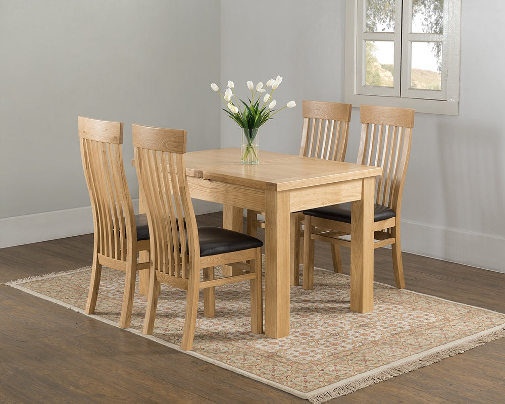 Valencia 120/166cm Butterfly Extending Dining Table