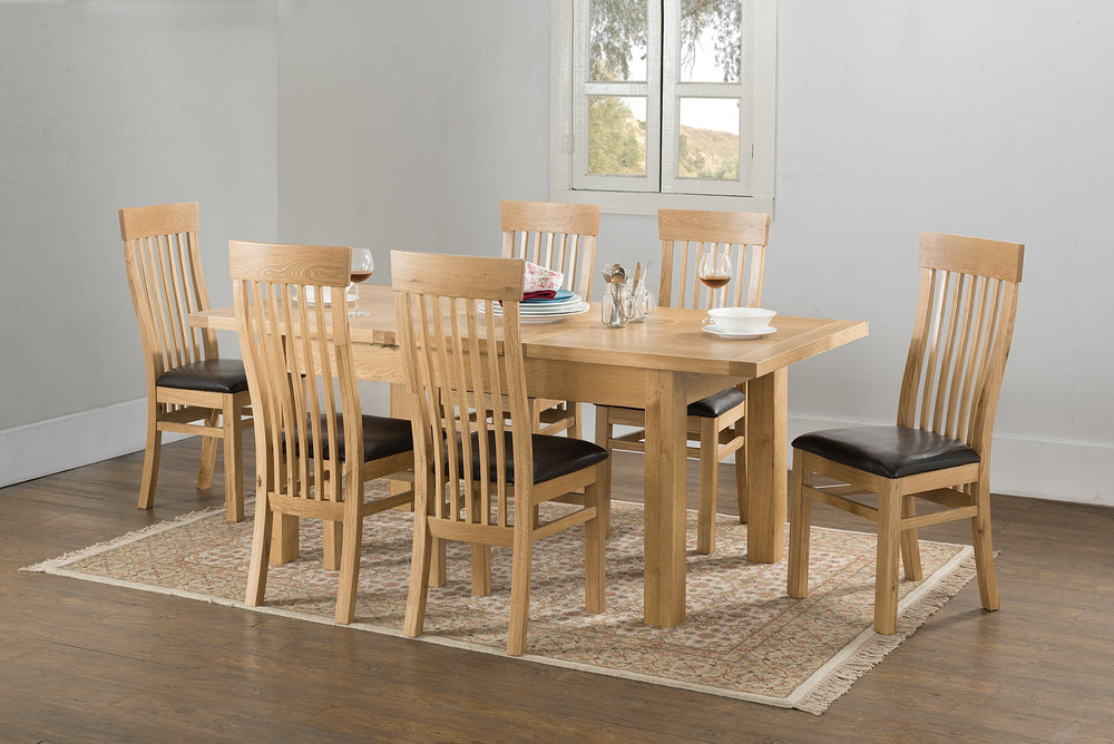 Valencia 150/195cm Butterfly Ext Dining Table