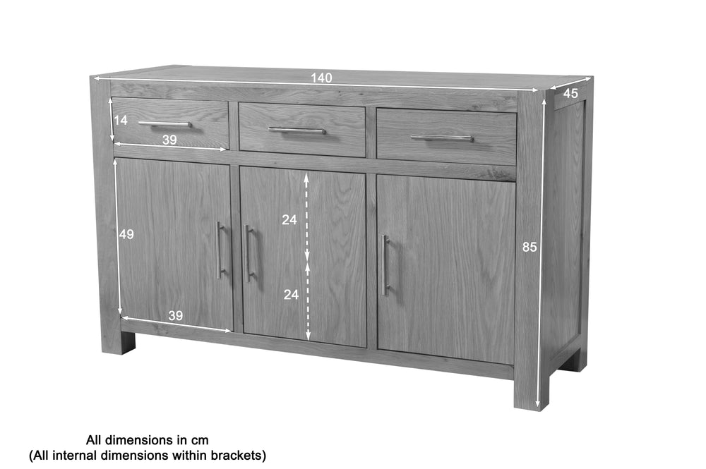 Lucerne Sideboard 3 Drawers and 3 Doors