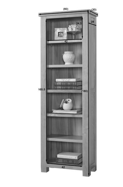 Valencia Slim Bookcase