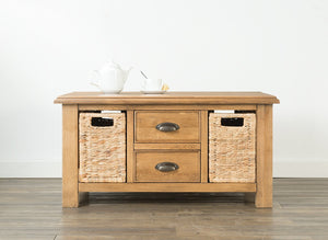 Hartford Coffee Table with Baskets