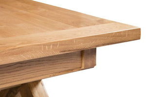 Tuscany Cross Leg Extending Dining Table 195/275cm