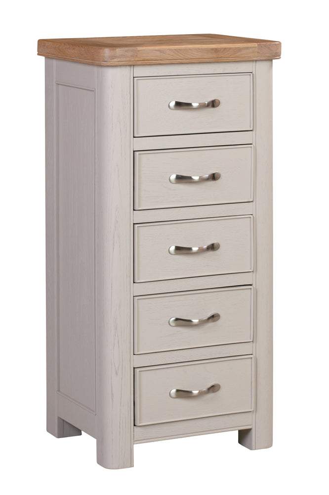 Chatsworth Painted Tall Chest with 5 Drawers