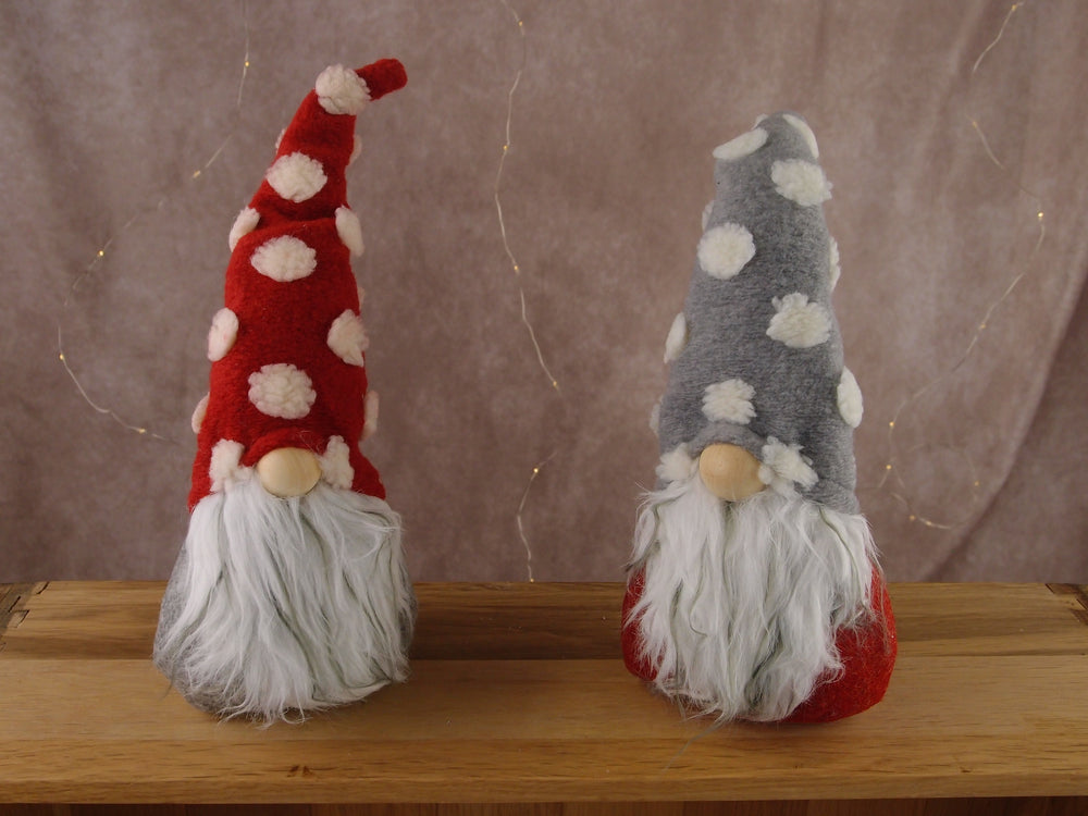 Small Grey and Red Gnomes