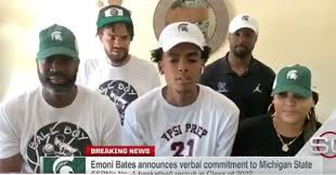 Emoni Bates (as of right now) Is a Spartan Dawg