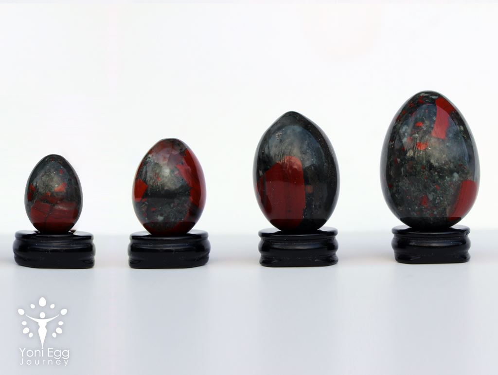 "African Bloodstone Yoni Egg ""Cleansing and Passionate"" Yoni Egg Yoni Egg Journeys"