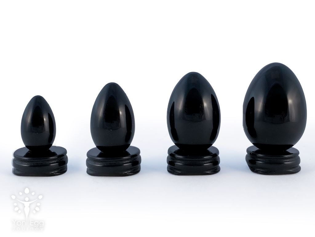 "Black Onyx Yoni Egg ""Strength and Support "" Yoni Egg Yoni Egg Journeys"