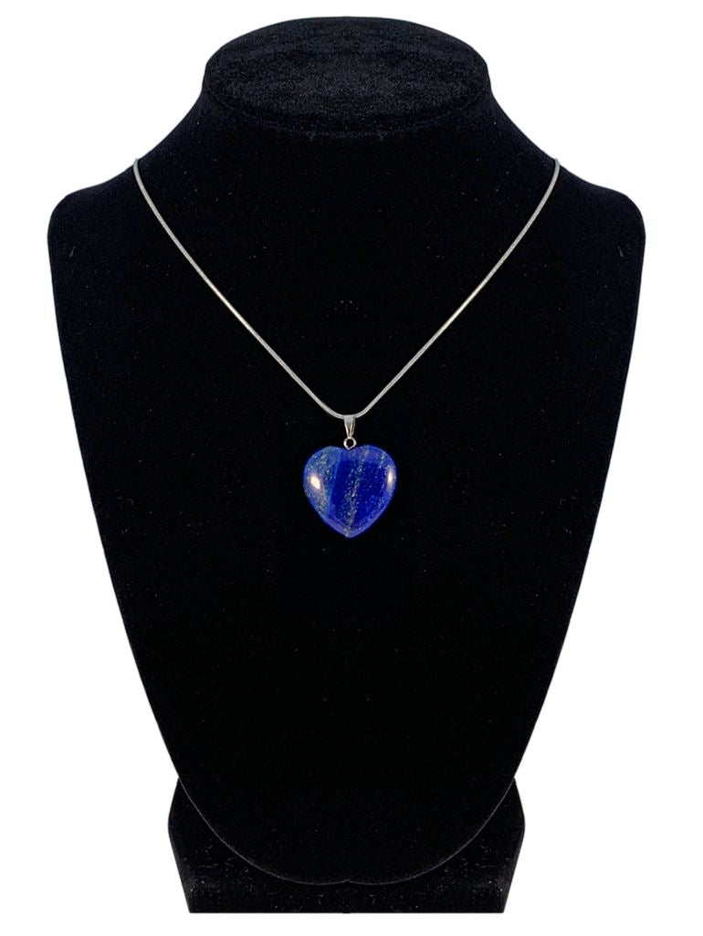 "Lapis Lazuli Heart Shaped Necklace ""Self Expression and Inner Connection"" Jewelry YE Journeys"
