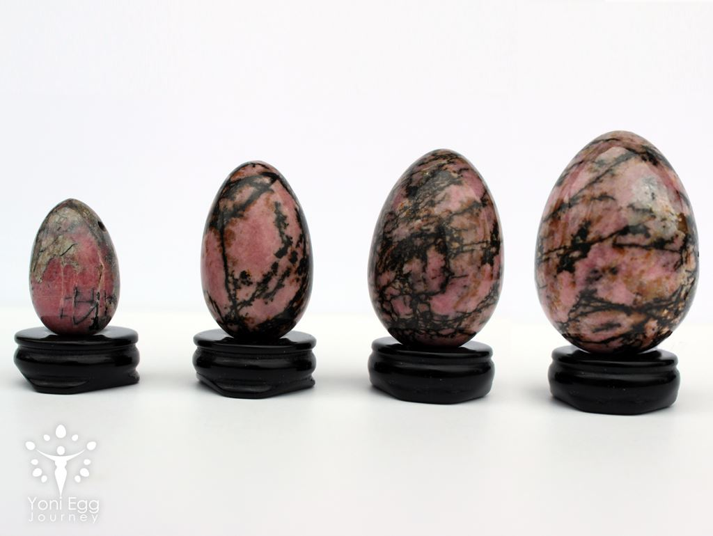 "Rhodonite Yoni Egg ""Centering and Love Energy"" Yoni Egg Yoni Egg Journeys"