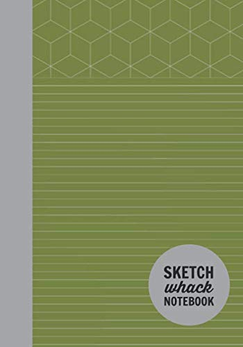 "Sketch Whack Notebook: Doodle While Taking Notes | Lined College Rule With Doodle Patterns | Green Soft Matte Cover | 7""x10"""