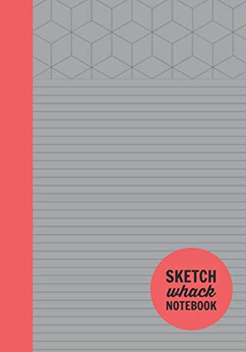 "Sketch Whack Notebook: Doodle While Taking Notes | Lined College Rule With Doodle Patterns | Medium Grey Soft Matte Cover | 7""x10"""