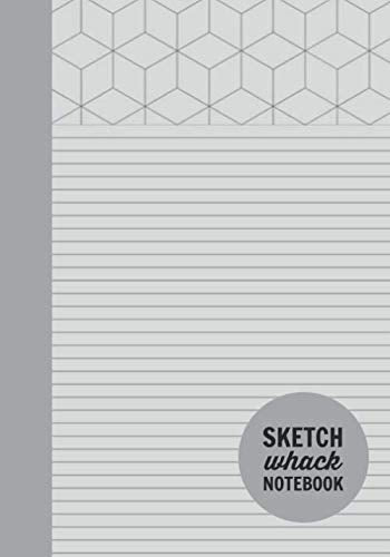 "Sketch Whack Notebook: Doodle While Taking Notes | Lined College Rule With Doodle Patterns | Light Grey Soft Matte Cover | 7""x10"""