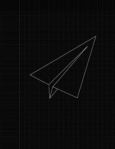 Black Paper Plane: Notebook has 120 French ruled pages