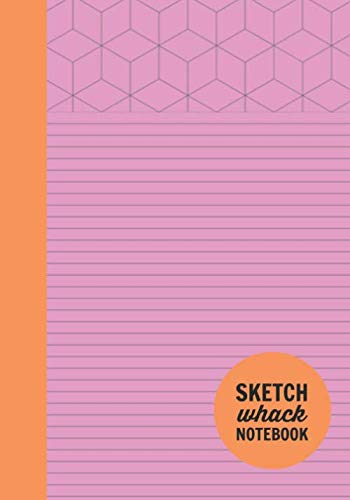 "Sketch Whack Notebook: Doodle While Taking Notes | Lined College Rule With Doodle Patterns | Pink Soft Matte Cover | 7""x10"""