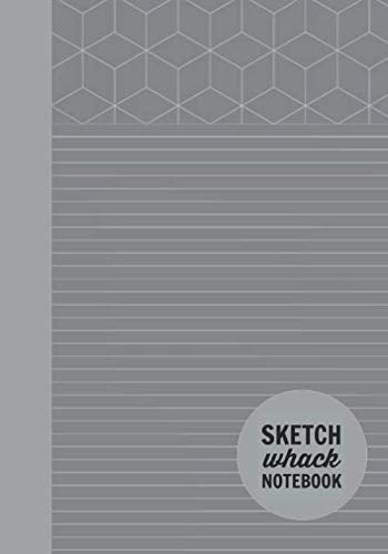 "Sketch Whack Notebook: Doodle While Taking Notes | Lined College Rule With Doodle Patterns | Dark Grey Soft Matte Cover | 7""x10"""