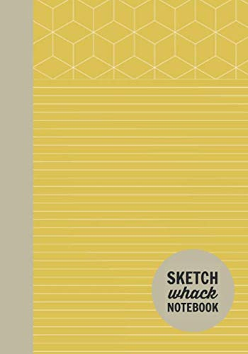"Sketch Whack Notebook: Doodle While Taking Notes | Lined College Rule With Doodle Patterns | Yellow Soft Matte Cover | 7""x10"""