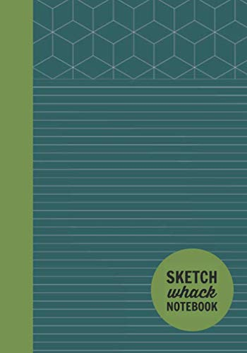"Sketch Whack Notebook: Doodle While Taking Notes | Lined College Rule With Doodle Patterns | Turquoise Soft Matte Cover | 7""x10"""