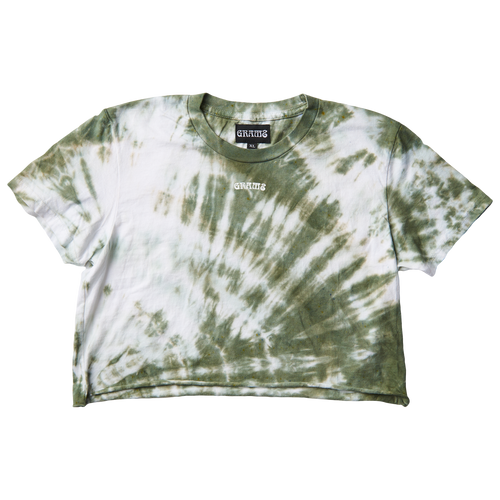 Tie Dye Crop Tee (Green/XL)